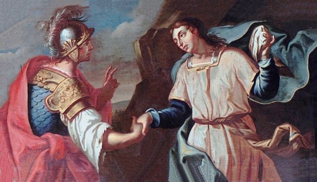David und Jonathans Schwur gegen Saul