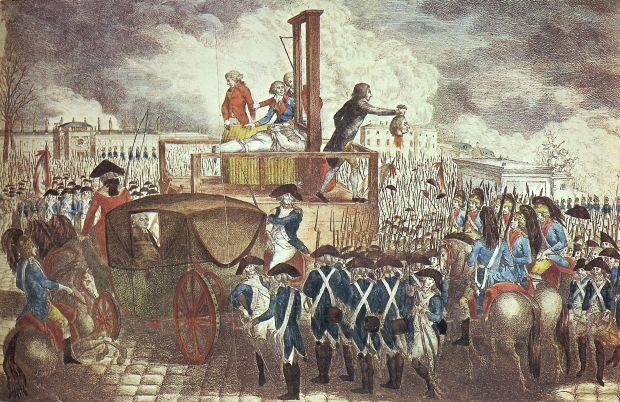 Hinrichtung Ludwigs des XVI. – Kupferstich aus dem Jahr 1793