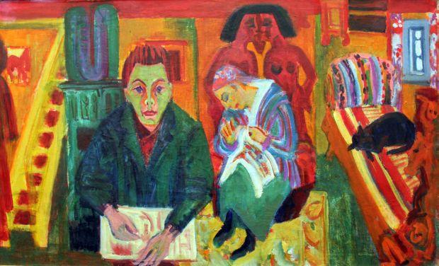 Ernst Ludwig Kirchner - Das Wohnzimmer