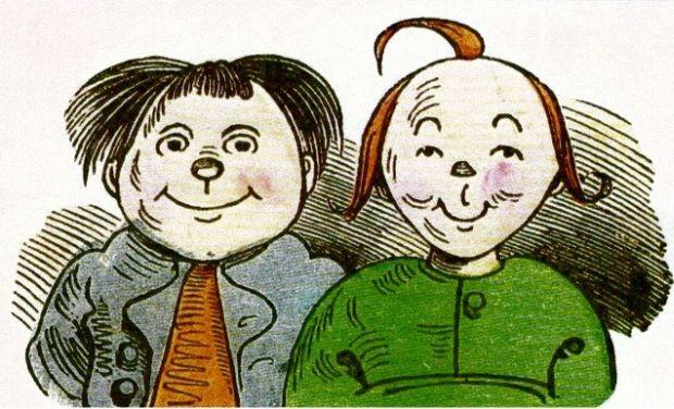 Max und Moritz, Zeichnung von Wilhelm Busch (1832-1908)